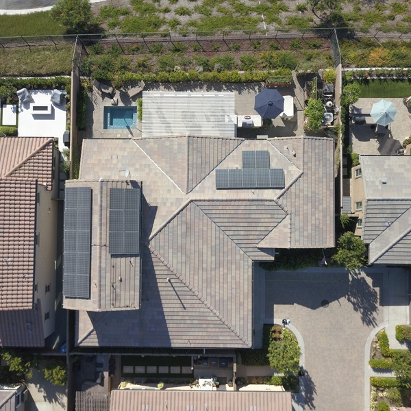 Bird's Eye Picture of Client Home for Roof Survey