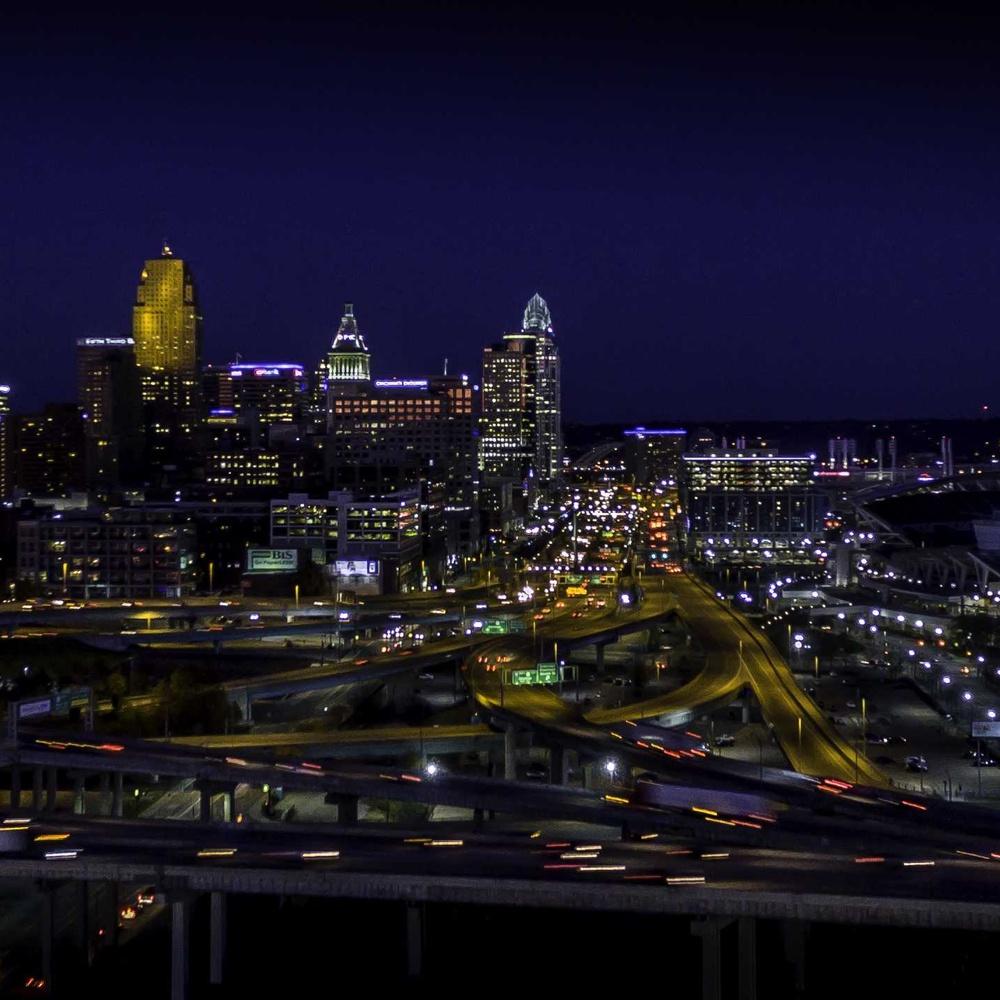 Skyline city of Cincinnati