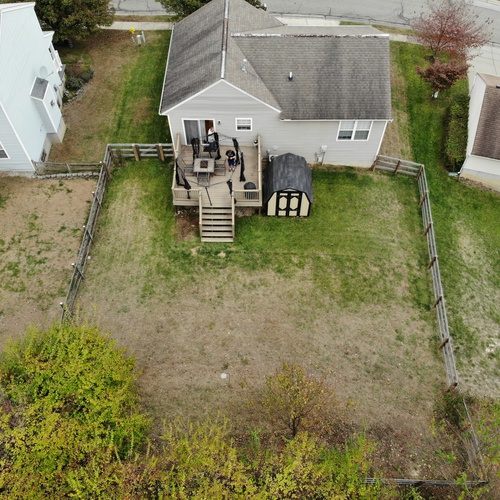 Aerial of a backyard