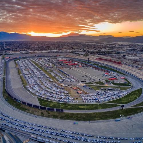 NASCAR - Sunrise over the track.