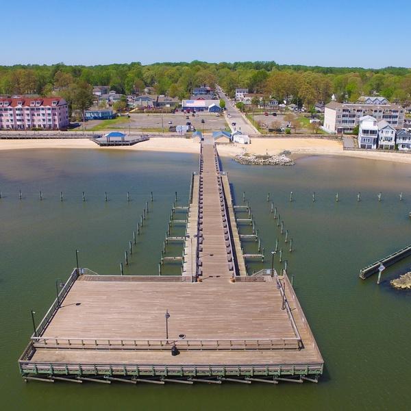 North Beach MD Public Fishing Pier & Boardwalk