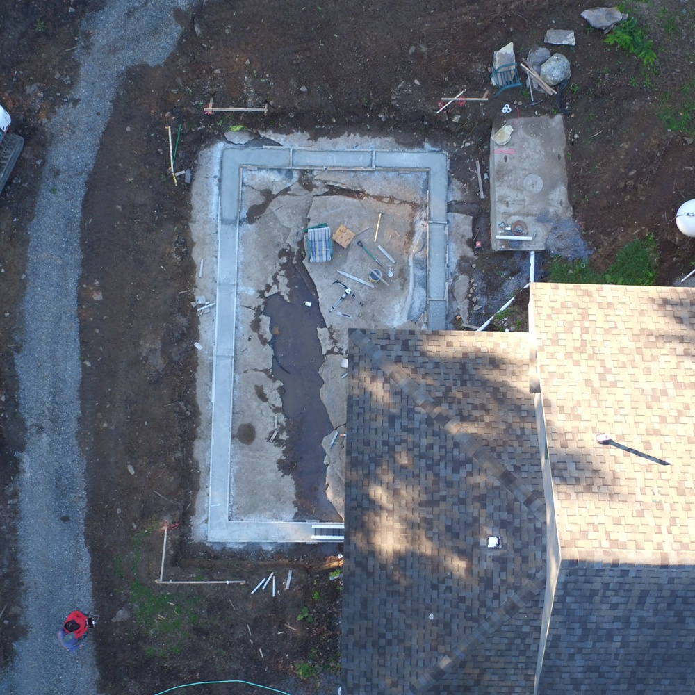Foundation inspection from above