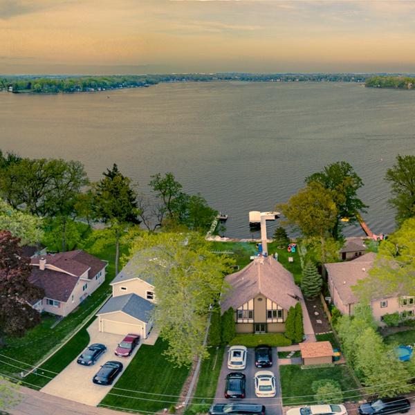 Wisconsin Lake House Panorama, Edited