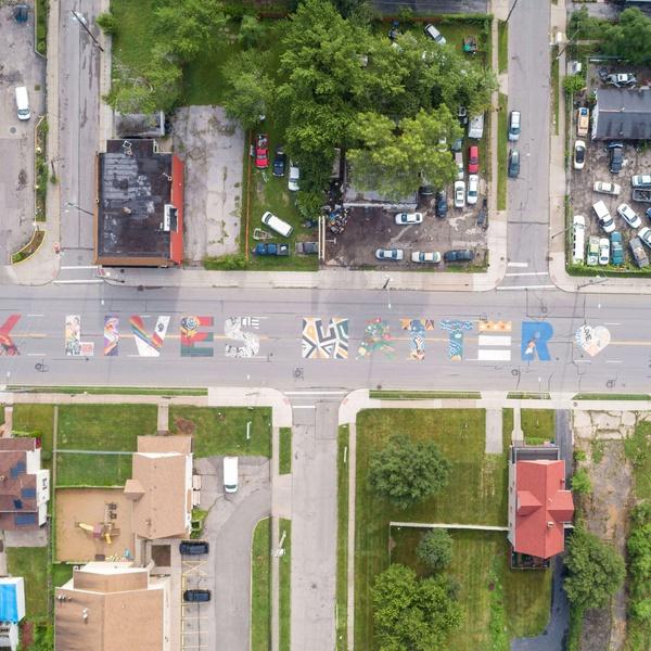 Black Lives Matter Mural - Cleveland, OH