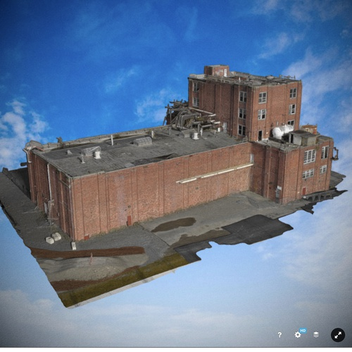 Another angle of GP mill building model