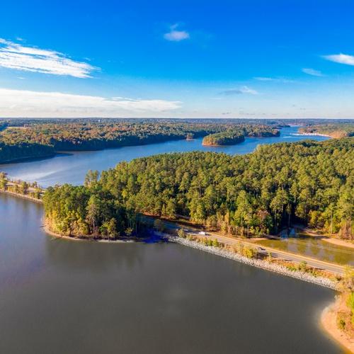 Falls Lake Aerial