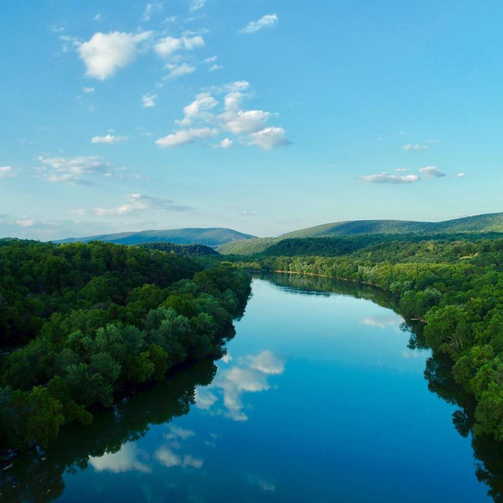 Shenandoah River in Harpers Ferry, West Virginia