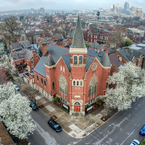 Aerial of Historic Church