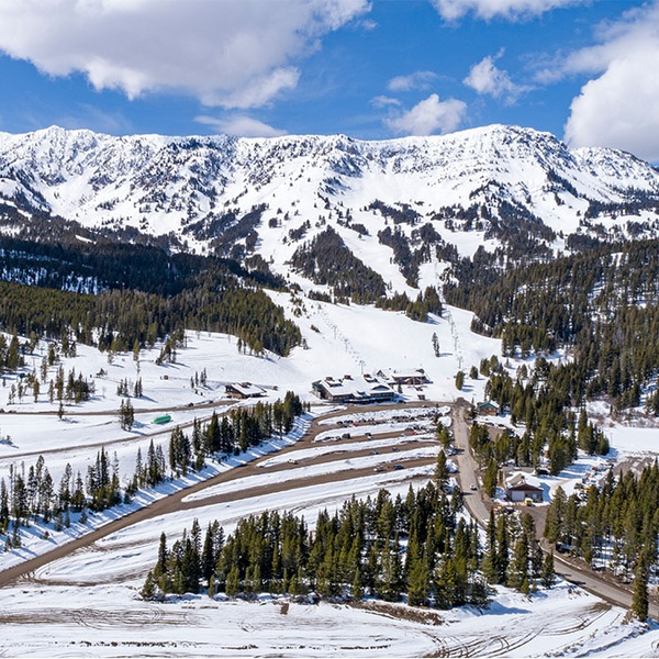 Bridger Bowl Aerial Photograph