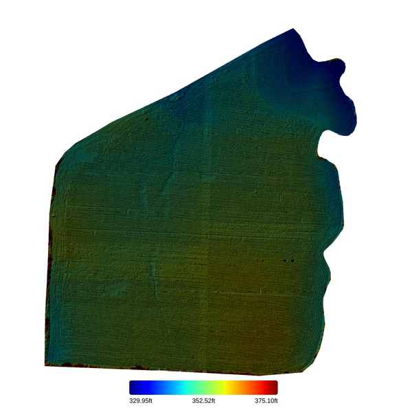 40 Acre Cotton Field Elevation Map