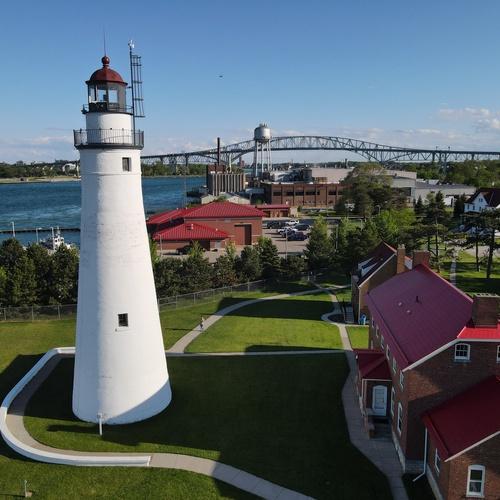 Port Huron Light House & Blue Water Bridge