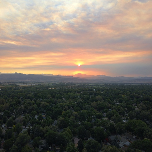 Smokey sunset in August of 2020 during all of the wildfires