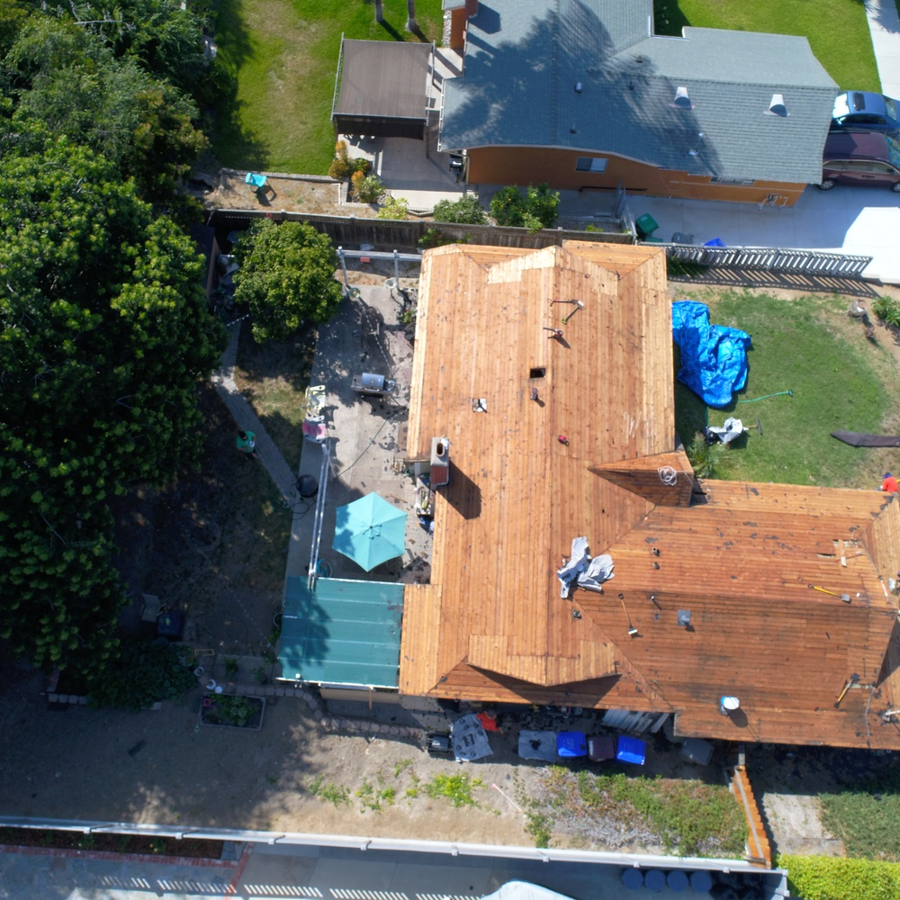 roof inspection (shingles removed