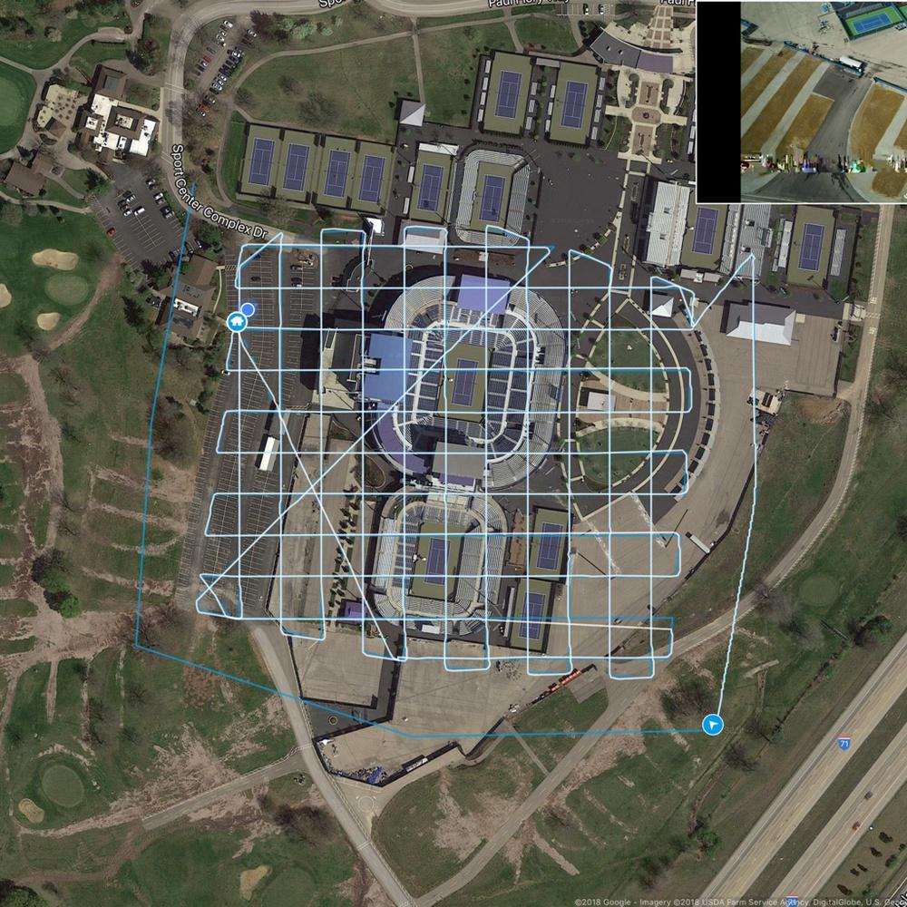 Cincy Tennis Center - 3D Mapping