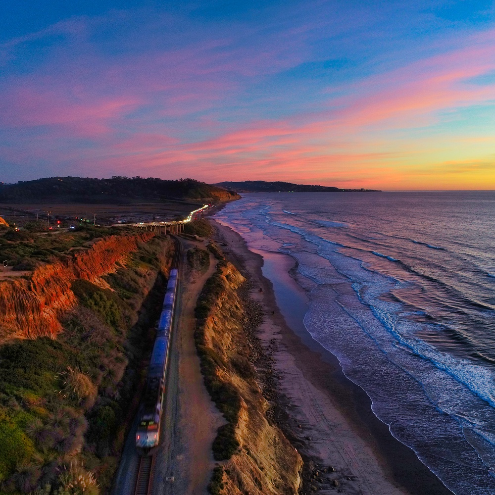 Train at Sunset Seat in Del Mar