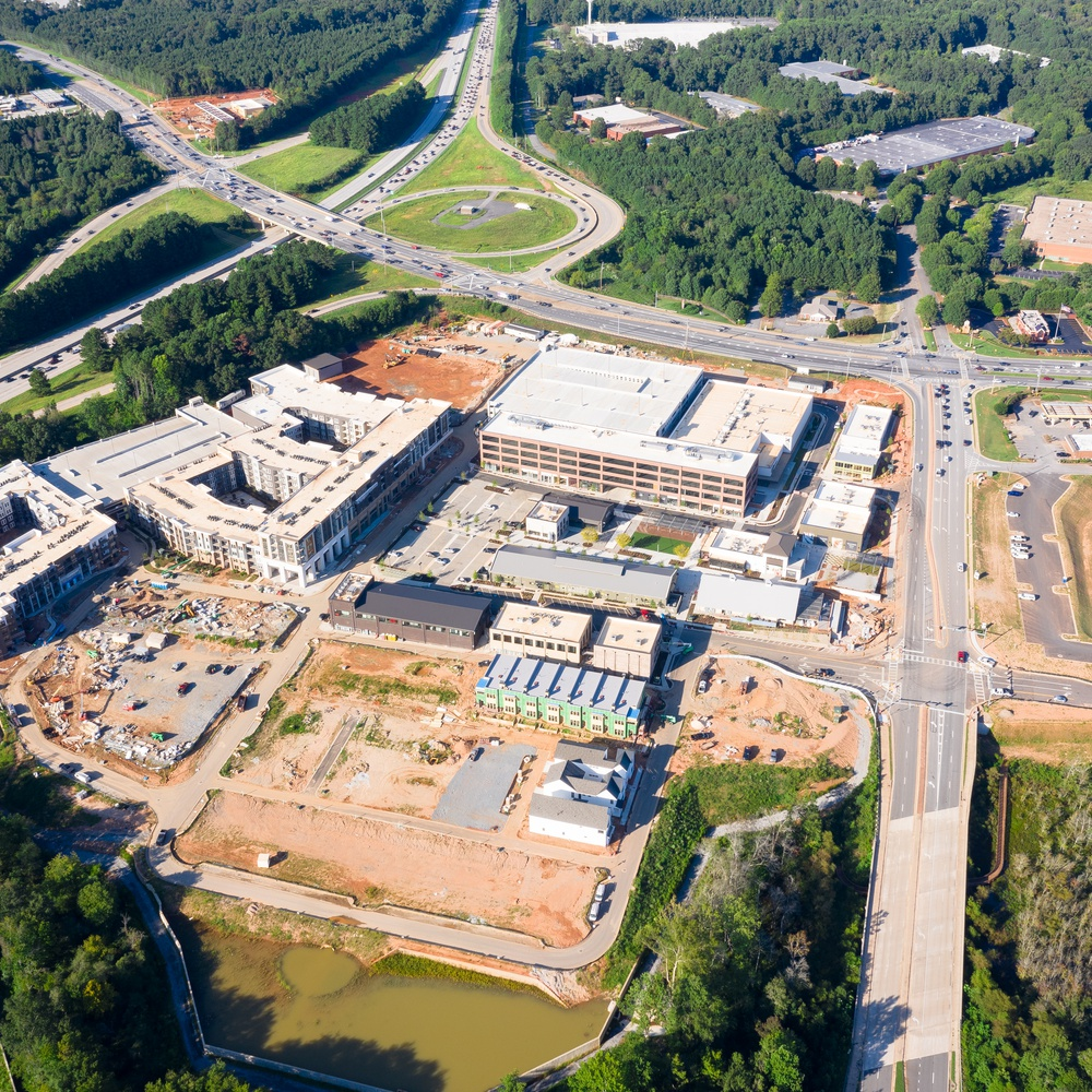 New mall construction in Atlanta Suburbs