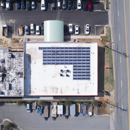 Commercial Solar installation by Renu Energy Solutions