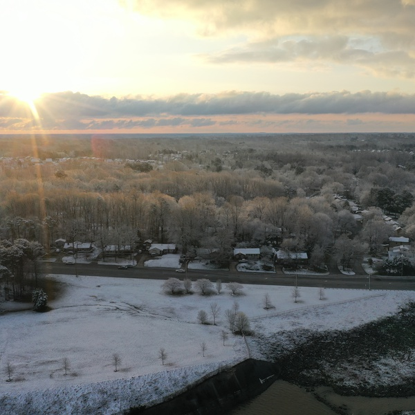 A Winter Sunrise on Oak Hollow Lake - High Point, NC