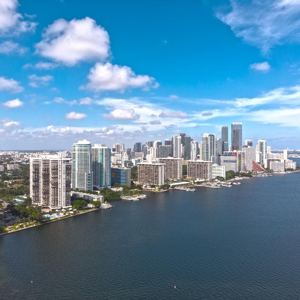 Aerial of Miami, Florida
