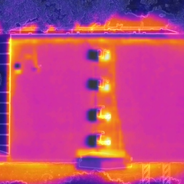 Commercial Building - Thermal Roof Inspection (Overhead, LWIR)