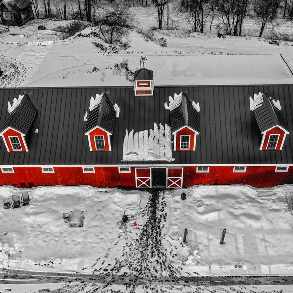 Captured a beautiful image of a Barn for a client.
