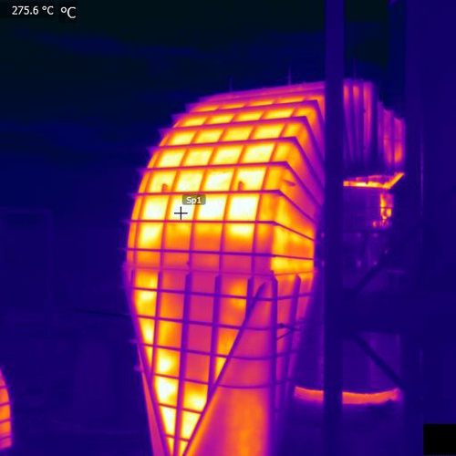 Thermal Inspection of Duct Insulation integrity in Cement Plant